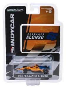 Fernando Alonso #66 1/64th 2019 Greenlight McLaren Indycar