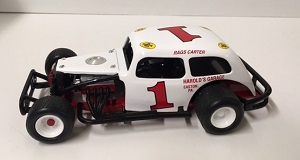Rags Carter #1 1/25th Nutmeg Harold's Garage modified coach