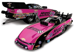 Courtney Force 1/64th 2017 Lionel Advance Auto Parts Pink Camaro Funny Car