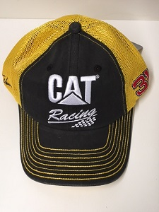 Ryan Newman #31 2018 CAT Racing gold and black mesh trucker hat