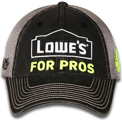 Jimmie Johnson #48 2018 Lowe's for Pros mesh trucker hat
