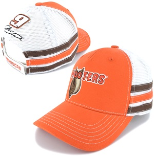 Chase Elliott #9 2018 Hooter's orange mesh trucker hat