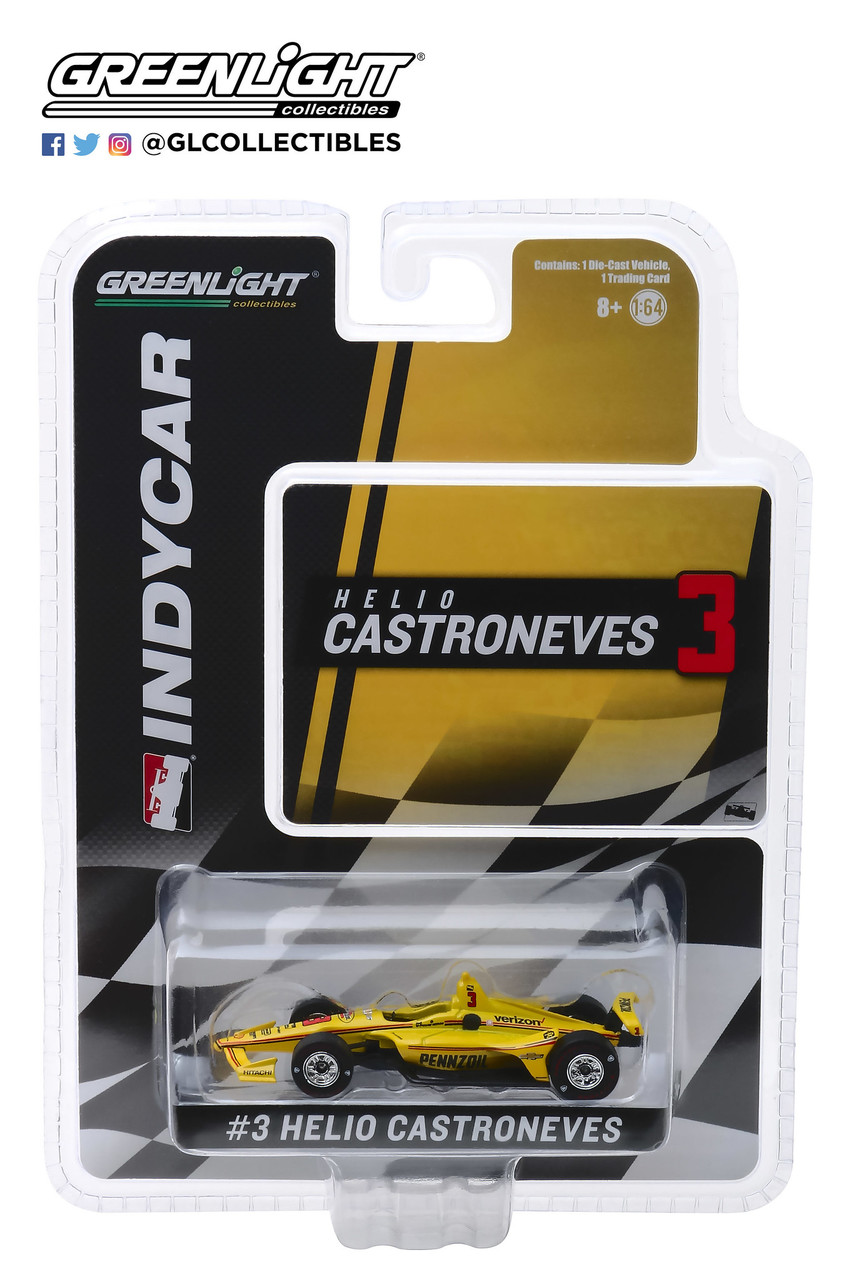Helio Castroneves #3 1/64th 2018 Greenlight Pennzoil Indycar