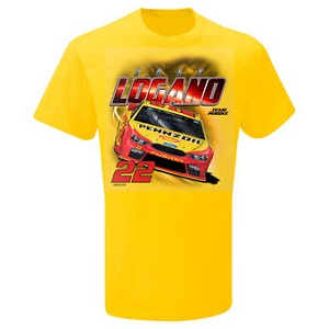 Joey Logano #22 Pennzoil yellow youth Power tee shirt