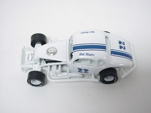 Bill Rafter #22 blue striped 1/64th scale coupe modified