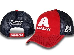 William Byron #24 2018 Axalta red and blue mesh trucker hat
