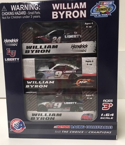 William Byron #24 1/64th 2019 Lionel Liberty University Rookie of the Year 3 vehicle set