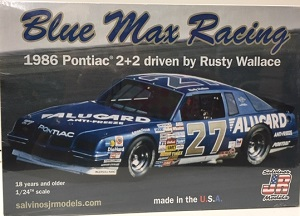 Rusty Wallace #27 1/25th 1986 Alugard Blue Max Pontiac  2+2 plastic model kit