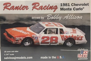 Bobby Allison #28 Hardee's 1981 Chevrolet Monte Carlo Salvinos JR Model kit
