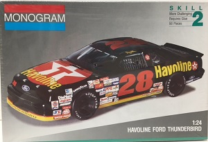 Davey Allison #28 Havoline Ford Thunderbird Monogram plastic model kit
