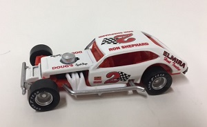 Ron Shephard #2 1/64th Elmira Heat Treat custom-built Pinto modified