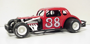 Jerry Cook #38 1/25th custom built diecast  coupe modified
