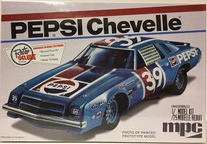 1975 Pepsi Chevelle Laguna #39 1/25th scale MPC Plastic Model Kit