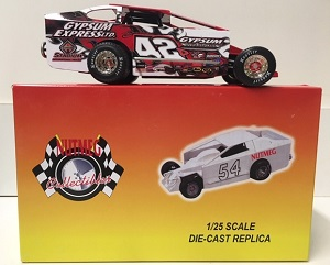 Pat Ward #42 1/25th scale Nutmeg Gypsum Express dirt modified