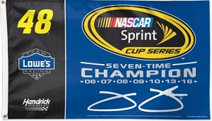 Jimmie Johnson #48 7-Time NASCAR champion 3'X5' two sided flag