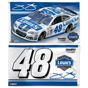 Jimmie Johnson #48 Lowe's double sided deluxe flag