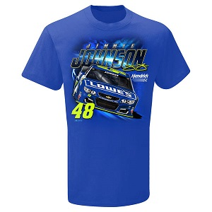 Jimmie Johnson #48 Lowe's youth blue Power tee shirt