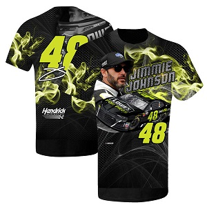 Jimmie Johnson #48 2018 Lowe's for Pros Prism sublimated  t-shirt