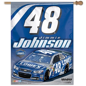 Jimmie Johnson #48 Lowe's vertical flag