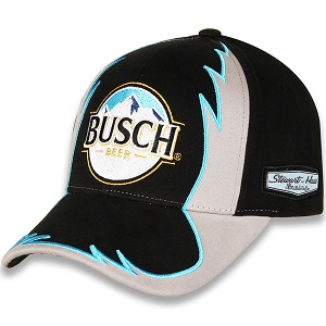 Kevin Harvick #4 2018 Busch Beer blue and black twill Jagged hat