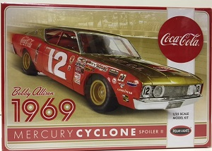 Bobby Allison #12 1/25th 1969 Coca-Cola Mercury Cyclone Polar Lights  plastic model kit