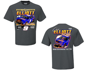Chase Elliott #9 2018 SunEnergy First Win/Hendick 250 wins gray two spot tee shirt