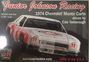 Junior Johnson Racing #11 Cale Yarborough 1974 Kar-Kare  Chevrolet Monte Carlo Model Car Kit