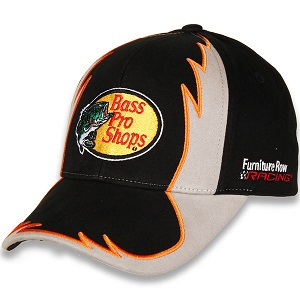 Martin Truex Jr. #78 2018 Bass Pro Shops gray and black Flame twill hat
