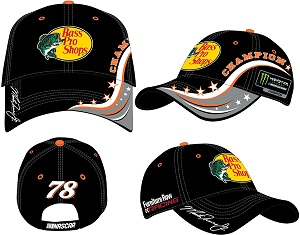 Martin Truex #78 Bass Pro Shops 2017 Monster Energy Champion Element black  twill hat