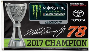 Martin Truex Jr #78 2017 Monster Energy Cup Champion 3'x5' deluxe flag