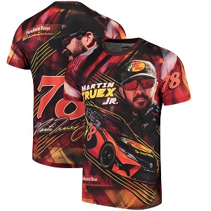 Martin Truex Jr #78 Furniture Row 2018 Furniture Row Prism sublimated t-shirt