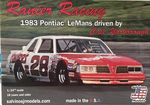 Cale Yarborough #28 1/24th Ranier Racing 1983 Hardee's Pontiac LeMans model car kit