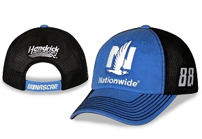 Alex Bowman #88 2018 Nationwide Insurance blue and black mesh trucker hat