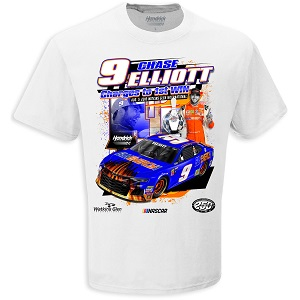 Chase Elliott #9 2018 SunEnergy First Win White t-shirt