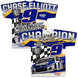 Chase Elliott #9 NAPA 2020 Cup Champion sublimated t-shirt