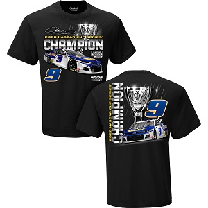 Chase Elliott #9 NAPA 2020 Cup Champion black trophy t-shirt