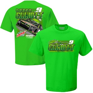 Chase Elliott #9 Mountain Dew Zero Sugar green t-shirt