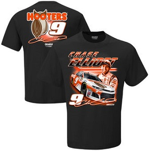 Chase Elliott #9 2018 Hooters black two spot tee shirt