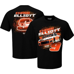 Chase Elliott #9 2019 Hooters black two-sided design t-shirt