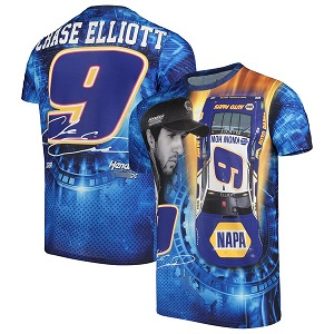 Chase Elliott #9 2019 NAPA sublimated blue t-shirt