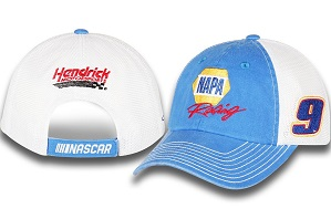 Chase Elliott #9 2018 NAPA blue and white trucker hat