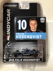 Felix Rosenqvist #10 1/64th 2020 Greenlight NTT Data Indycar