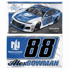 Alex Bowman #88 2018 Nationwide Insurance 3'X5'  two sided deluxe flag