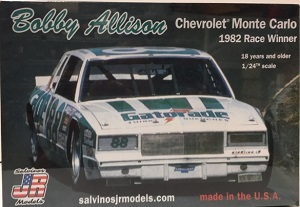 Bobby Allison #88 1/25th 1982 Gatorade Chevrolet Monte Carlo race winner plastic model kit