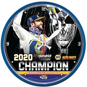 Chase Elliott #9 2020 NAPA Cup Champion wall clock