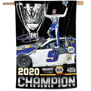 "Chase Elliott #9 2020 NAPA Cup Champion  20"" X 40"" vertical banner flag"
