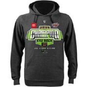 Kyle Busch #18 Monster Energy Cup Championship gray hoodie
