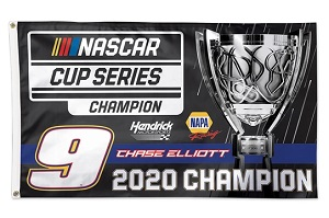 Chase Elliott #9 2020 NAPA Cup Champion  3' x 5' deluxe flag