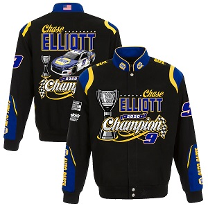 Chase Elliott #9 2020 NASCAR CHAMPION Black twill jacket