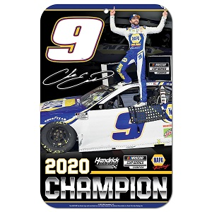 Chase Elliott #9 2020 NAPA Cup Champion plastic sign